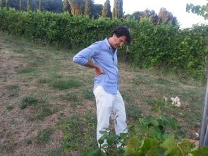 Paolo tra le sue vigne