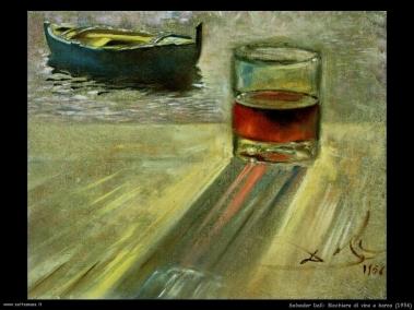 Dalì - Bicchiere di vino e barca