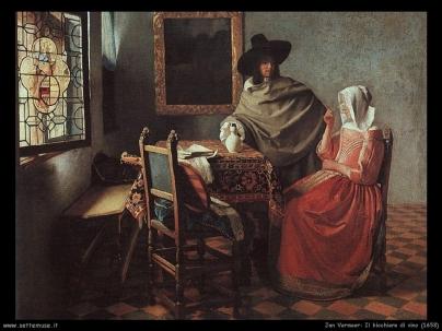 Vermeer - Il bicchiere di vino