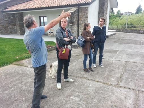Dario con Agnese (e Pluto), Lisa e Wolfgang.