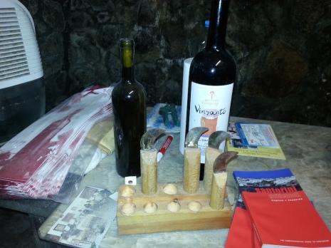 """Ferentìni, il coltello tradizionale usato per la """"Vendema""""."""