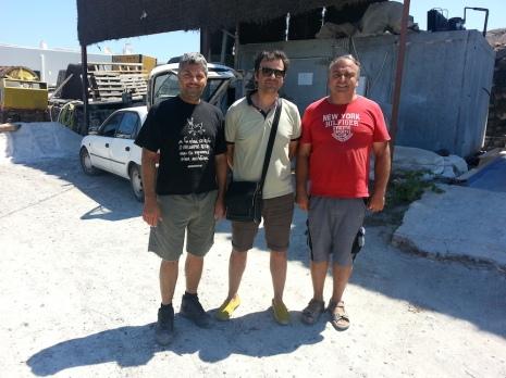 Da sinistra: Kostas Stamou, Ioannis Argiris alias Vitedivino e Haridimos Hatzidakis.