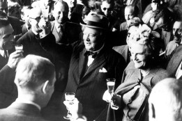 Winston and Clementine Churchill in Switzerland in August 1946. Keystone/Getty Images
