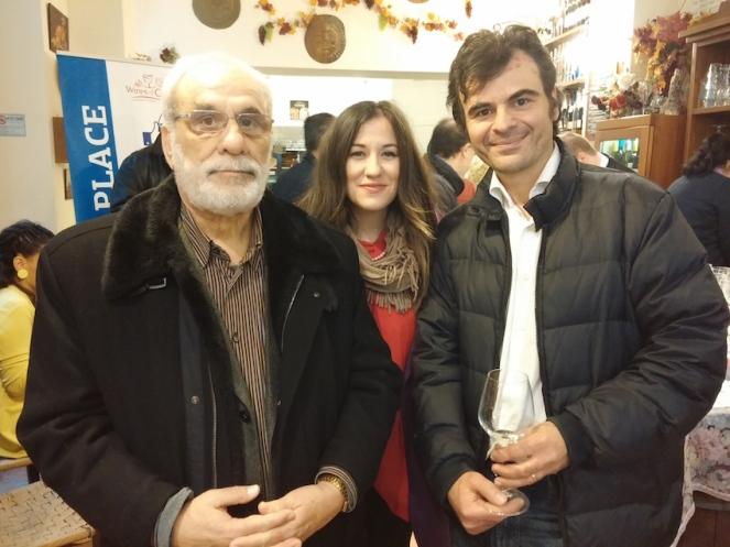 Con Yorgos e Nicky Paterianaki (Domaine Paterianaki).