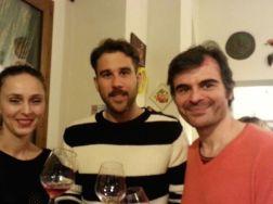 Con Nana Chrisohoou (Estate Chrisohoou) e Dimitris Spentzas (responsabile vendite di Domaine Gavalas)