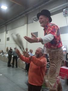 Gigi Miracol e Antonio Cascarano (Camerlengo) danno spettacolo