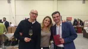 Con Lucia Ziniti e Andrea Balducci (Cantina San Biaggio Vecchio)