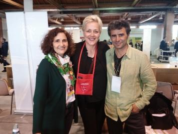 Agnese con Julian Ruiz Villanueva ed Elena Dimas.