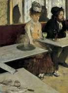 L'Absinthe (1876), di Edgar Degas - Café de la Nouvelle Athènes